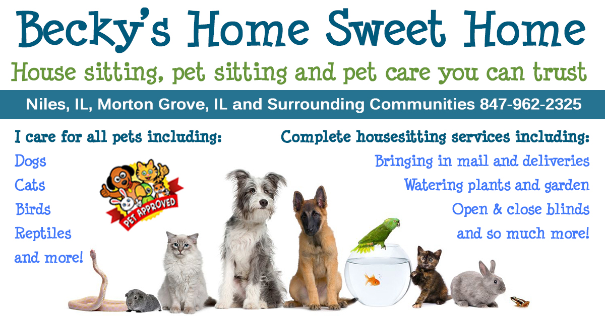 Pet Sitting & House Sitting - Morton Grove, IL Niles, IL